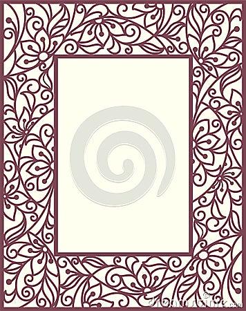 Stylization floral frame