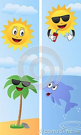 Cartoon Summer Banners [2]
