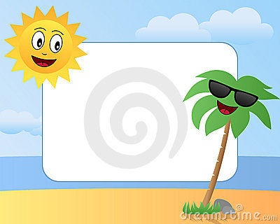 Cartoon Summer Photo Frame [1]