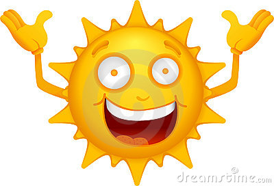 Cartoon Sun Characters 1