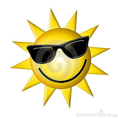 Free Cartoon Sun Wearing Dark Glasses Royalty Free Stock Photos - 4609238
