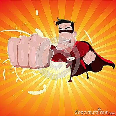 Free Cartoon Super Hero Royalty Free Stock Image - 19609456