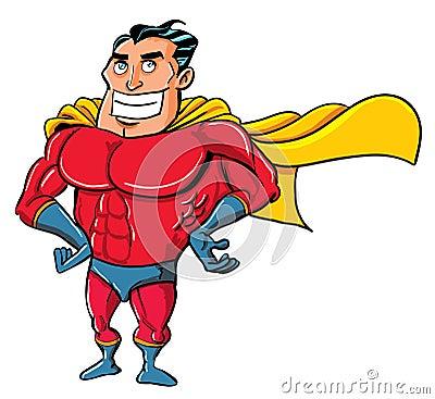 Cartoon Superhero in a classic pose