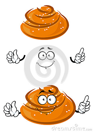 Free Cartoon Sweet Bun Character With Sesame Seeds Stock Photos - 59534293