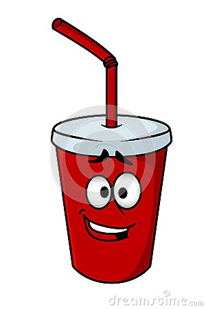 Cartoon Takeaway Soda Royalty Free Stock Image Image