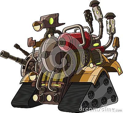 Cartoon tank with fire power