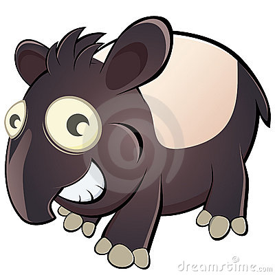 Cartoon tapir