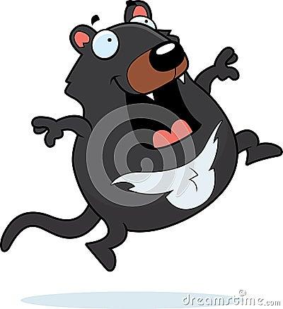 Cartoon Tasmanian Devil Jumping