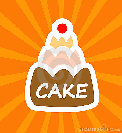 Cartoon tasty cake