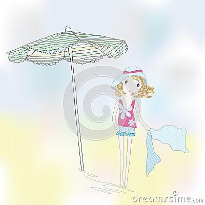Cartoon teenage girl