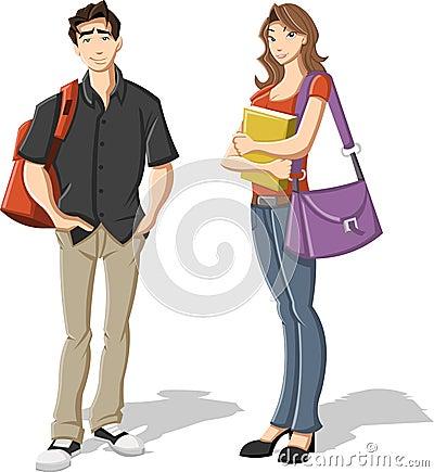 Free Cartoon Teenagers. Stock Photo - 29047440