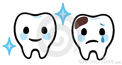Cartoon teeth dental care