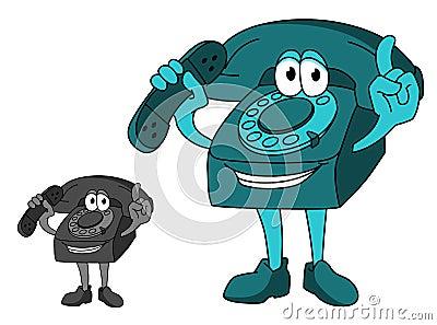 Cartoon telephone
