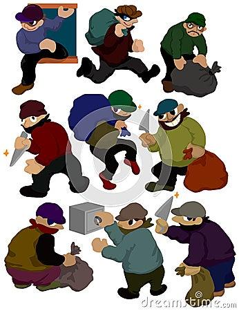 Cartoon thief icon