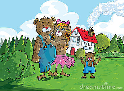 Cartoon of the three bears