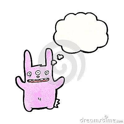 cartoon three eyed rabbit