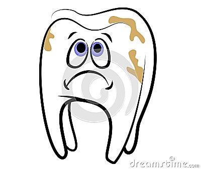 Cartoon Tooth Dental Cavity