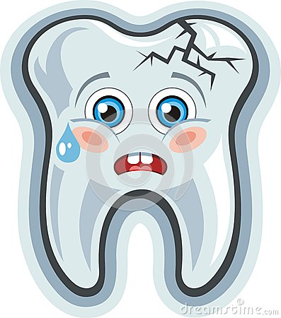 Cartoon tooth.Toothache