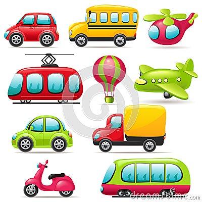 Free Cartoon Transport Set Stock Images - 31583364