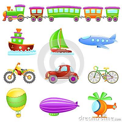 Free Cartoon Transportation Vector Royalty Free Stock Image - 9060936
