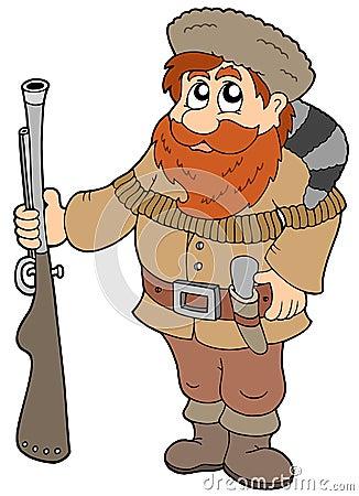 Free Cartoon Trapper Royalty Free Stock Photo - 12010295