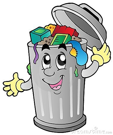 Free Cartoon Trash Can Royalty Free Stock Photography - 20097337