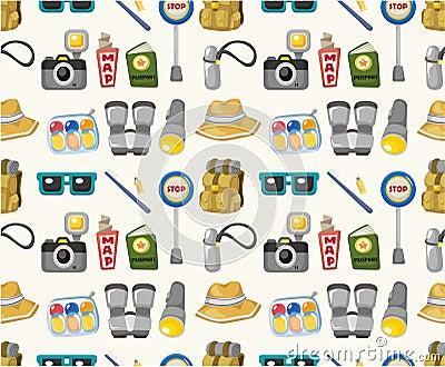 Cartoon travel seamless pattern