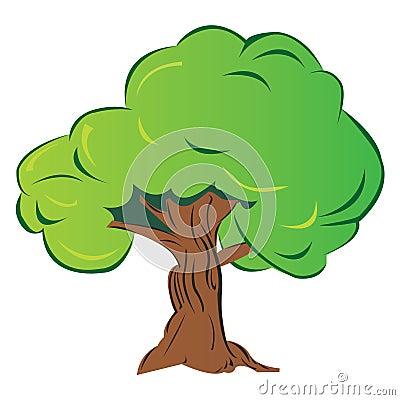 Free Cartoon Tree Royalty Free Stock Image - 8189256