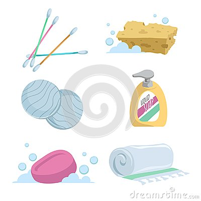 Free Cartoon Trendy Simple Gradient Bath Icon Set. Royalty Free Stock Photography - 101086577