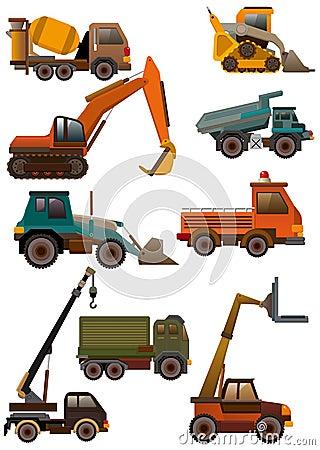 Free Cartoon Truck Icon Stock Photography - 18230002