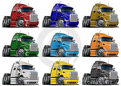 Cartoon trucks set