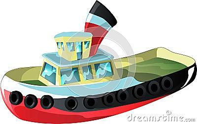 Cartoon tug boat