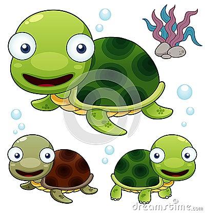 Free Cartoon Turtle Royalty Free Stock Photo - 27878275