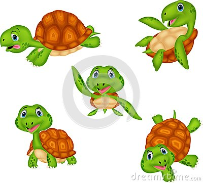 Free Cartoon Turtle Collection Set Royalty Free Stock Image - 118398786
