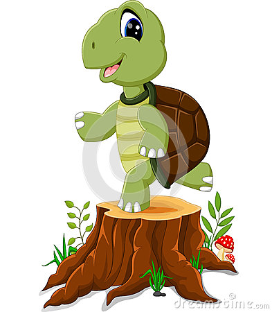 Free Cartoon Turtle Posing Royalty Free Stock Image - 73472526