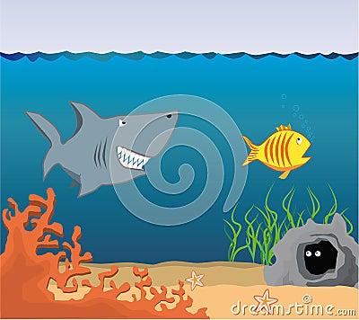 Cartoon Underwater World.