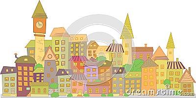 Cartoon vector construction city