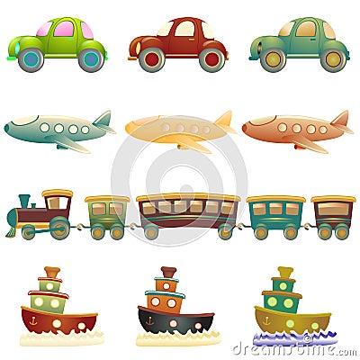 Free Cartoon Vehicles Royalty Free Stock Photo - 15119815