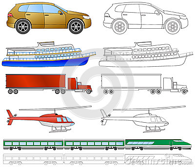 Cartoon vehicles coloring (2/2)