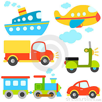 Free Cartoon Vehicles Vector Royalty Free Stock Photos - 9477288