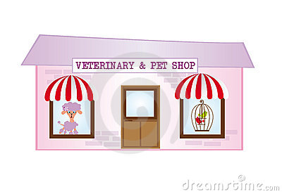 Violet and pink cartoon veterinary isolated over white background ...