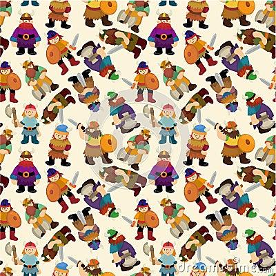 Free Cartoon Vikings Pirate Seamless Pattern Royalty Free Stock Image - 20665666