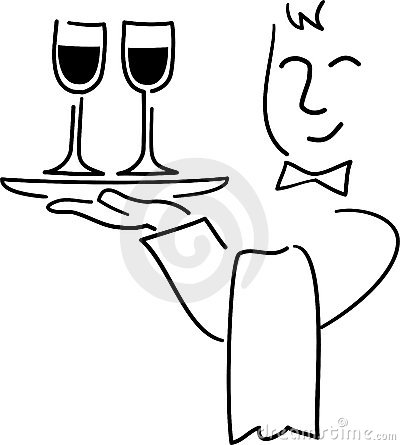 Free Cartoon Waiter/ai Royalty Free Stock Photo - 5197335