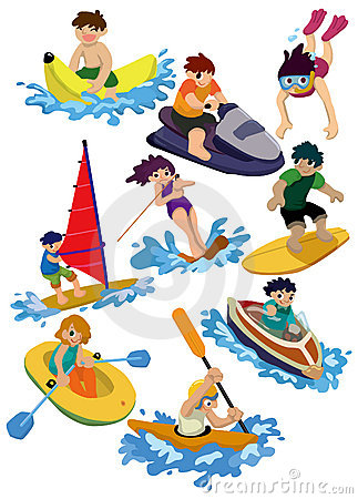 Free Cartoon Water Sport Icon Stock Photo - 18279360