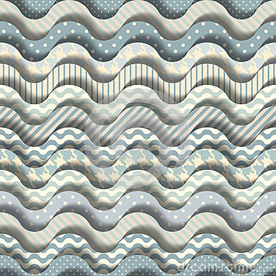 Cartoon waves pattern