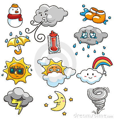 Free Cartoon Weather Icon Stock Photography - 18090672