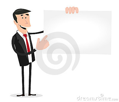 Cartoon White Businessman Visit Card