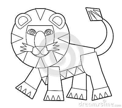 cartoon wild animal coloring page for the children stock photos image 35582543. Black Bedroom Furniture Sets. Home Design Ideas