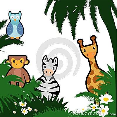 Cartoon wildlife