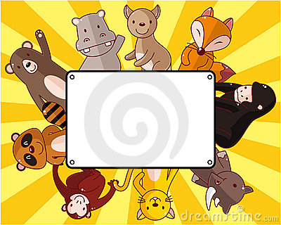 Cartoon wildlife animal card